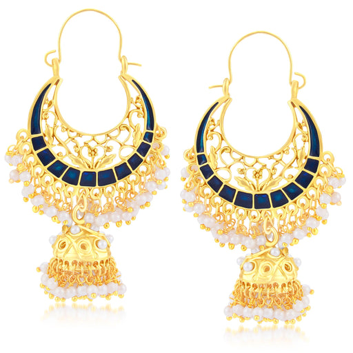 Sukkhi Glistening Gold Plated Jhumki Earring For Women