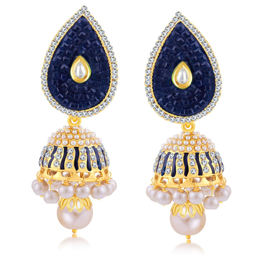 Sukkhi Delightly Gold Plated Jhumki Earring For Women