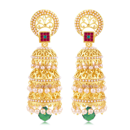Sukkhi Astonish Gold Plated Jhumki Earring For Women