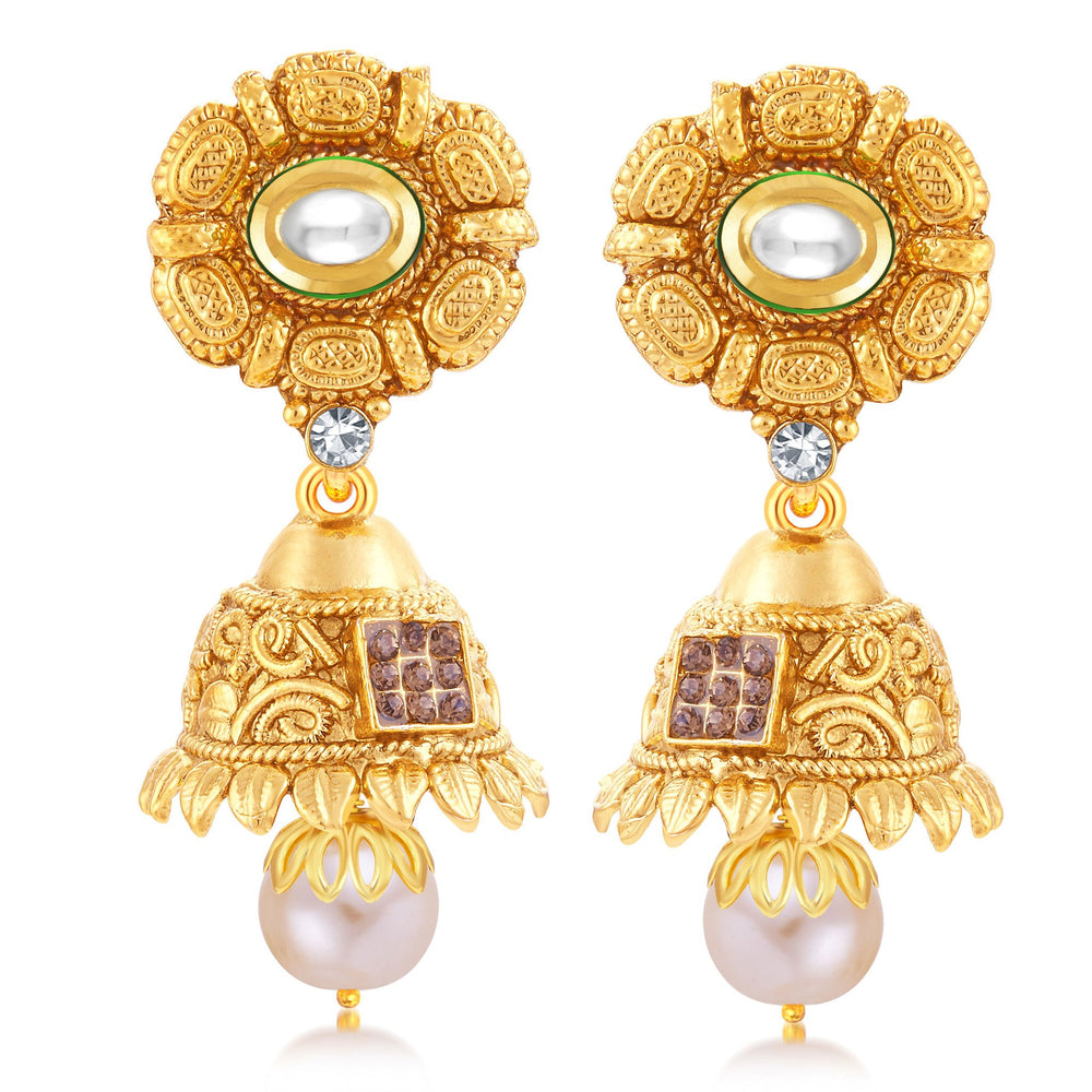 Sukkhi Ritzy Gold Plated Jhumki Earring For Women