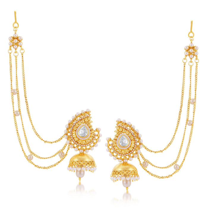 Sukkhi Ethnic Gold Plated Jhumki Earring For Women