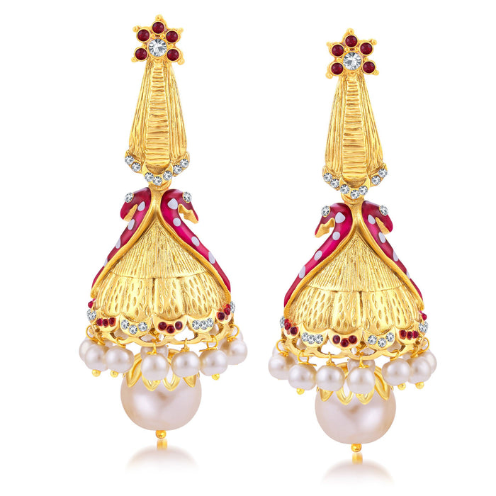 Sukkhi Trendy Peacock Gold Plated Jhumki Earring For Women