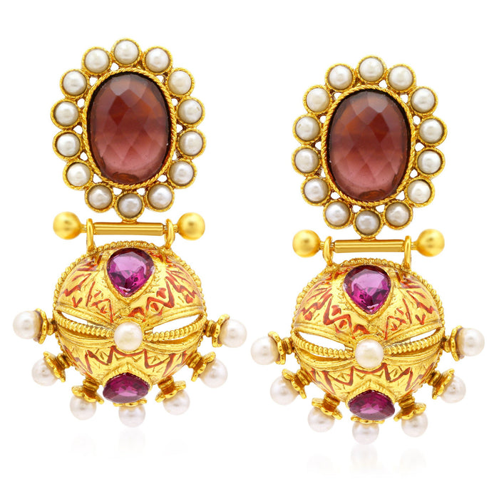 Sukkhi Astonish Gold Plated Dangle Earrings For Women