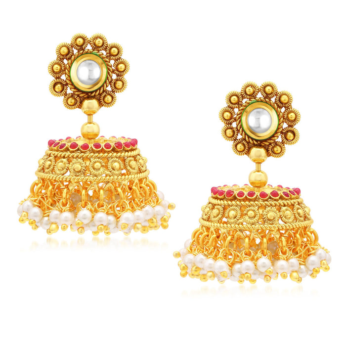 Sukkhi Elegant Gold Plated Jhumki Earrings For Women