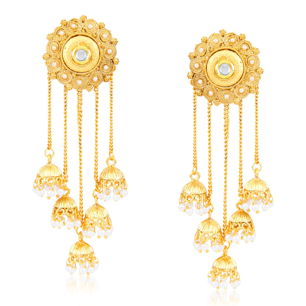 Sukkhi Lavish Round Shaped Zhumki Earring for Women