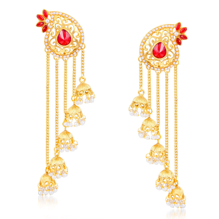 Sukkhi Ravishing Pear Shaped Zhumki Earring for Women