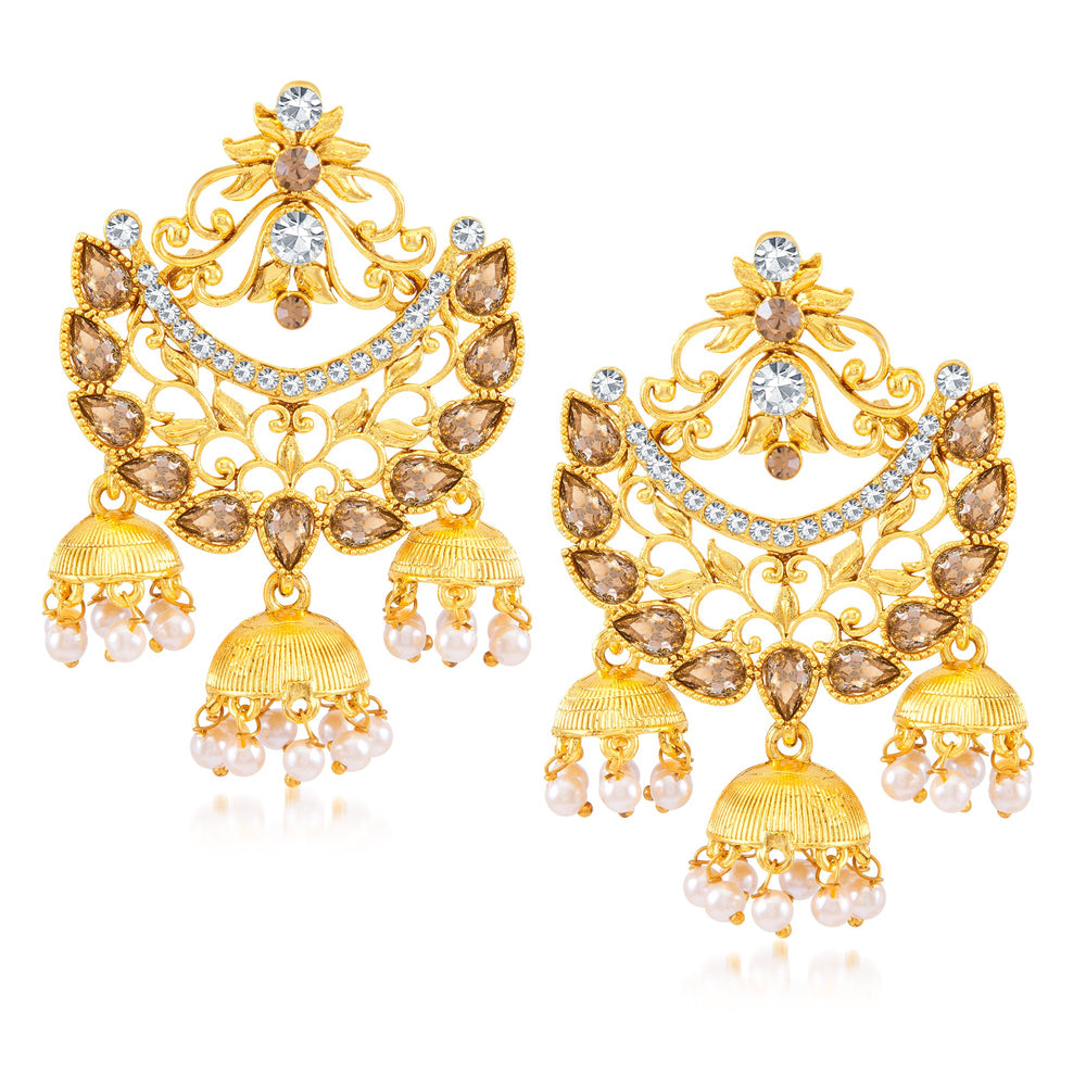 Sukkhi Trendy Gold Plated Drop Earring for Women