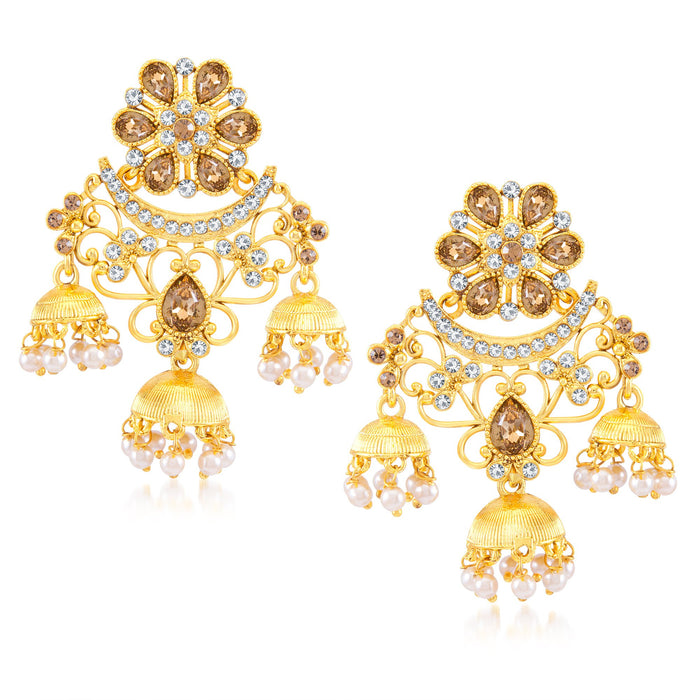 Sukkhi Lavish Gold Plated Dangle Earring for Women
