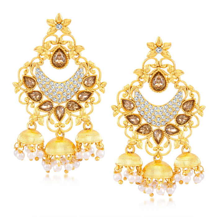 Sukkhi Beguiling Gold Plated Dangler Earring for Women