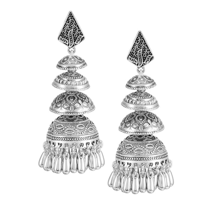 Sukkhi Wavy Oxidised Dangler Jhumki Earring Set for women - Title