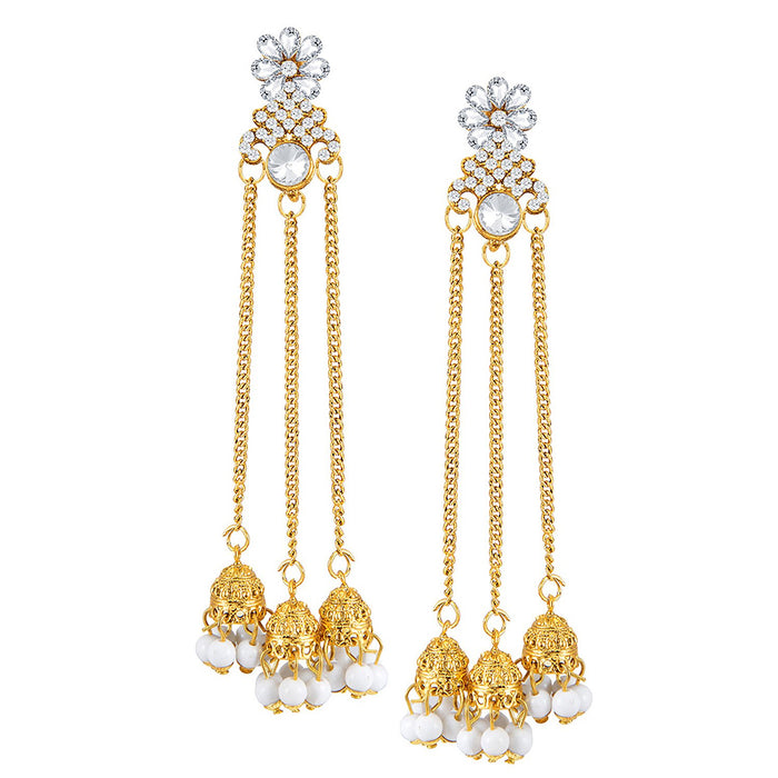 Sukkhi Trendy Gold Plated Zhumki Earring Set for women - Title