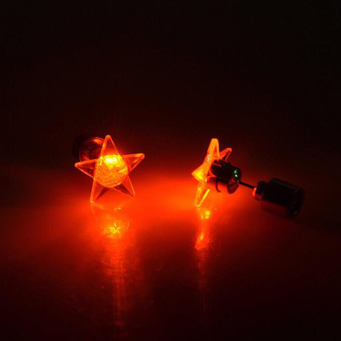 Sukkhi Wavy Star Shaped LED Colorful Party Dance Unisex Stud Earring