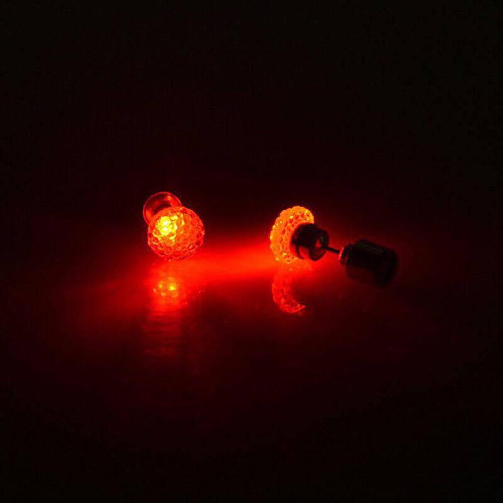 Sukkhi Gleaming Round Crystal LED Colorful Party Dance Unisex Stud Earring