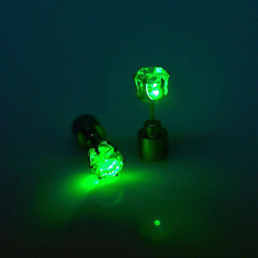 Sukkhi Marvellous Round Green LED Colorful Party Dance Unisex Stud Earring