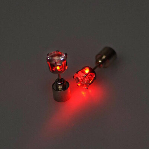 Sukkhi Stylish Red Round Shaped LED Colorful Party Dance Unisex Stud Earring