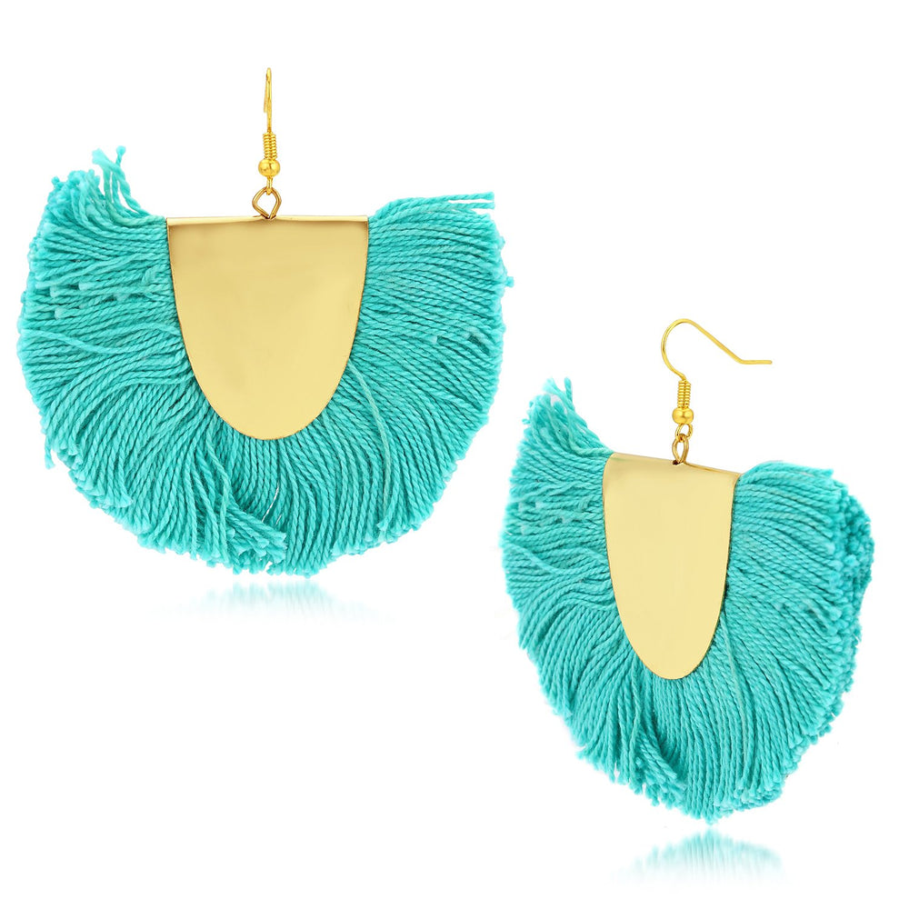 Sukkhi Elegant Fashion Blue Tassel Earring for women