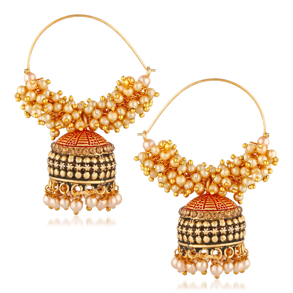 Trushi Traditional Gold Plated Earring For Women