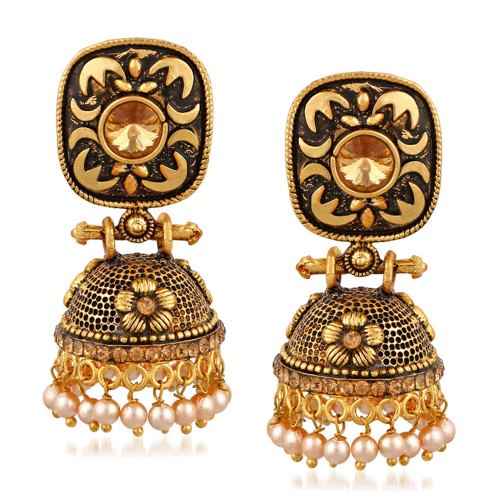 Trushi Incredible Oxidised Plated Earring For Women
