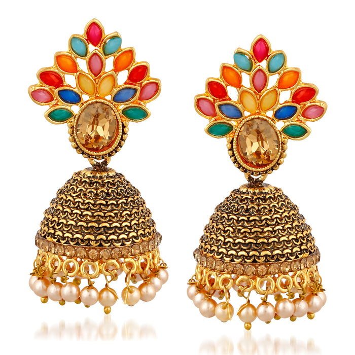 Trushi Delightly Oxidised Plated Earring For Women