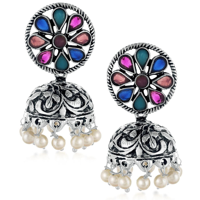 Sukkhi Lavish Oxidised Plated Dangler Jhumki earring for women