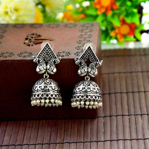 Sukkhi Stylish Oxidised Plated Jhumki earring for women
