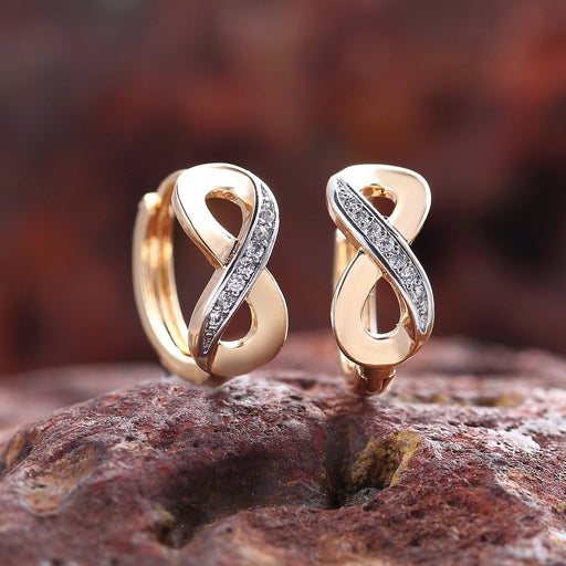 Sukkhi Brilliant Gold Plated Infinity Knot design Earring for Women