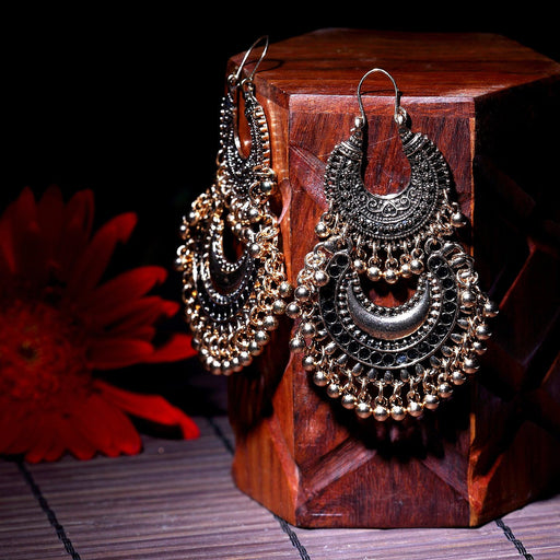 Sukkhi Ritzy Gold Plated Filigree Design Dangler earring for women