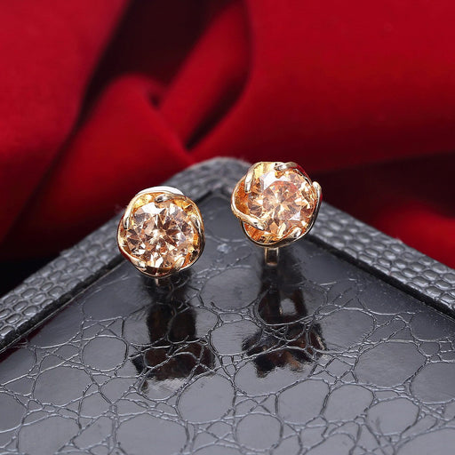 Sukkhi Dazzling Gold Plated Orange Stud Earring for women