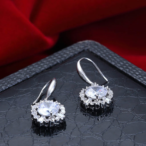 Sukkhi Pleasing Rhodium plated drop earring for women