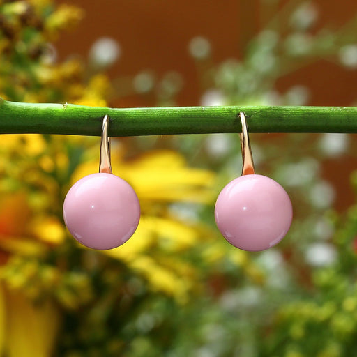 Sukkhi Dazzling Gold Plated Pink Stone Stud earring for women