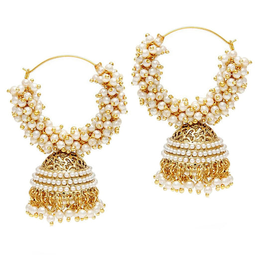 Sukkhi Fancy Gold Plated Pearl Jhumki Earring For Women
