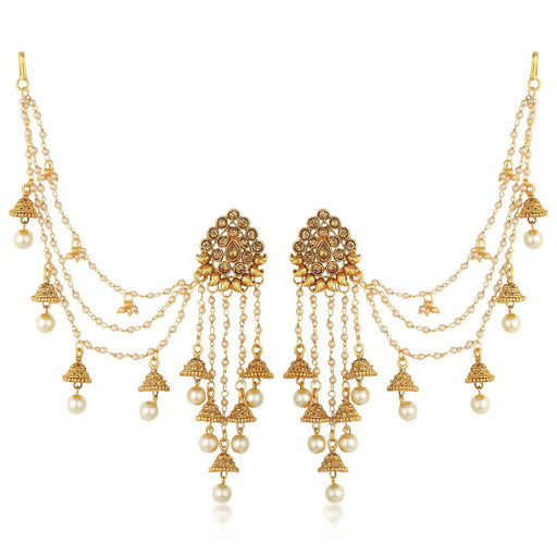 Sukkhi Bahubali Traditional Gold Plated Long Chain Jhumki Earrings For Women