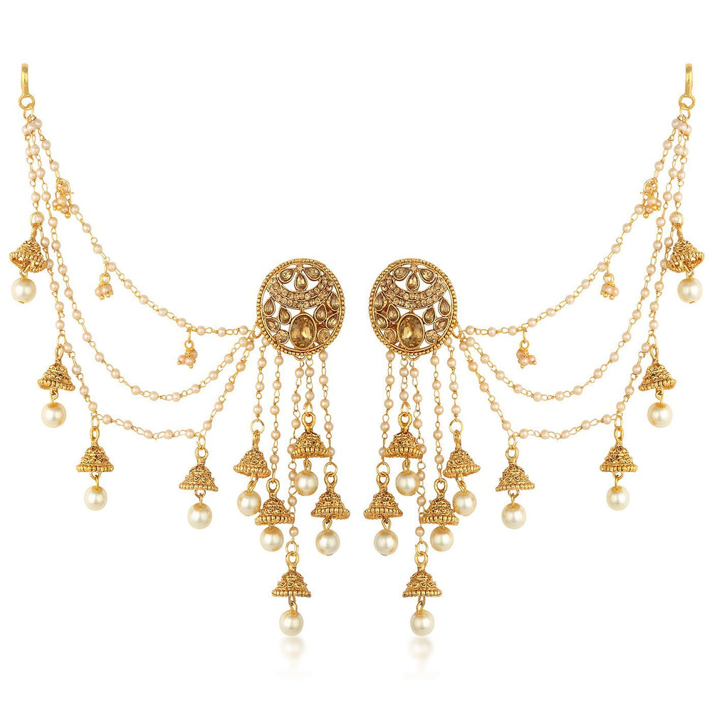 Sukkhi Bahubali  Earrings With Beads Chain Jhumki Earring For Women