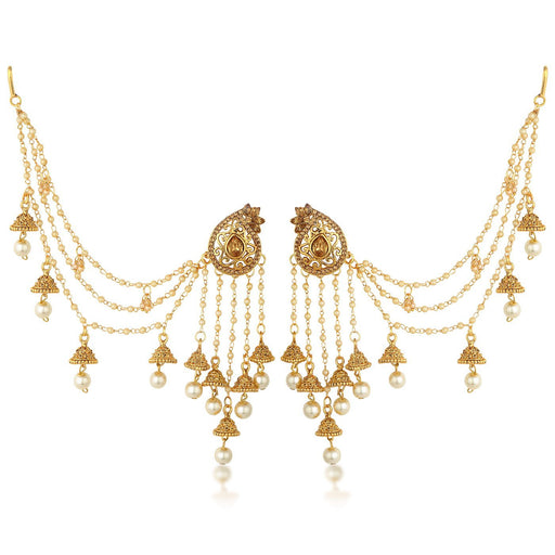 Sukkhi Bahubali Trendy Earring With Jhumki And Long Pearl Chain Earring