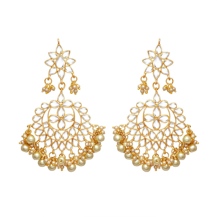 Sukkhi Classic Gold Plated Pearl Chandbali Earring for Women