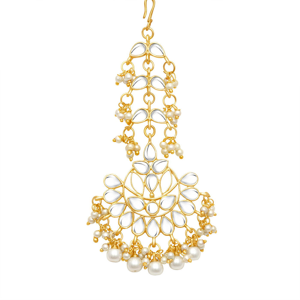 Sukkhi Lavish Gold Plated Pearl Chandelier Earring for Women