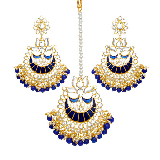 Sukkhi Moddish Gold Plated Meenakari Chandbali Earring for Women