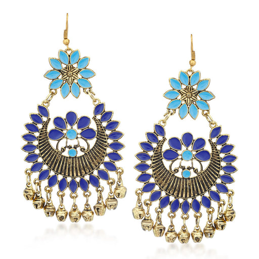 Sukkhi Lavish Rhodium Plated Chandbali Earring for Women