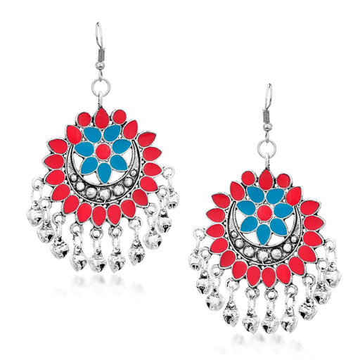 Sukkhi Trendy Rhodium Plated Chandbali Earring for Women
