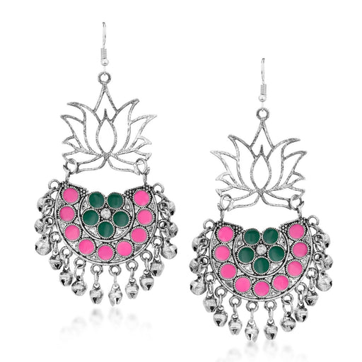 Sukkhi Traditional Rhodium Plated Chandbali Earring for Women