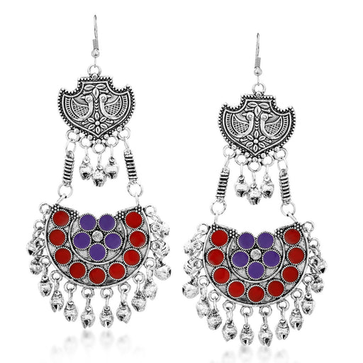 Sukkhi Designer Rhodium Plated Chandbali Earring for Women