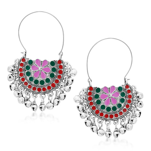 Sukkhi Exquisite Rhodium Plated Chandbali Earring for Women