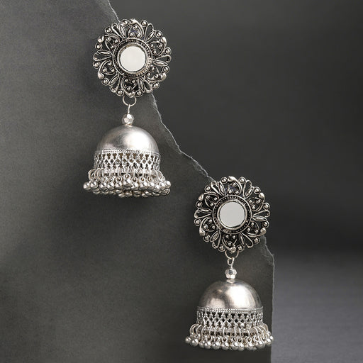 Sukkhi Graceful Oxidised Plated Jhumki Earring for Women