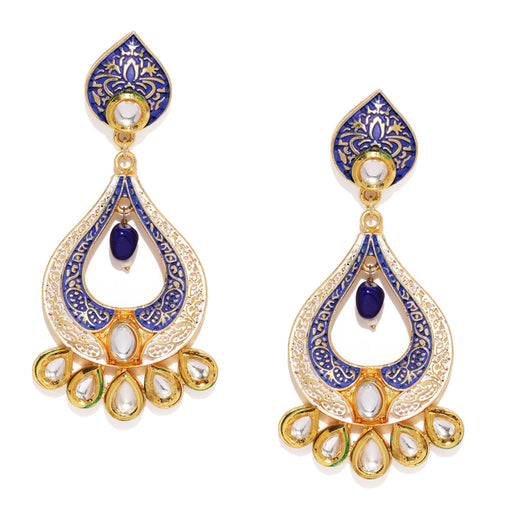 Sukkhi Intricately Mint Collection Gold Plated Kundan Earring for Women