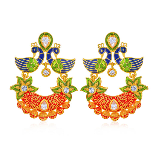 Sukkhi Charming Peacock Gold Plated Earring for Women