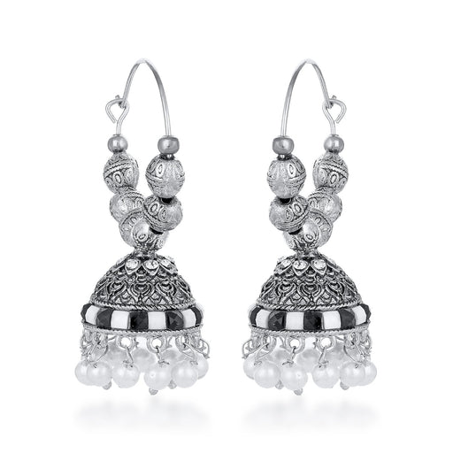 Sukkhi Appealing Pearl Oxidised Jhumki Earring for Women