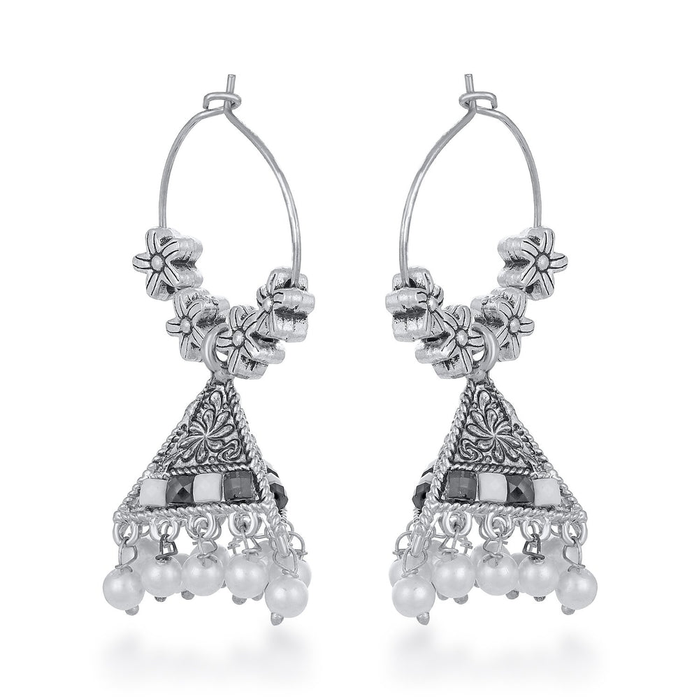 Sukkhi Intricately Floral Pearl Oxidised Earring for Women