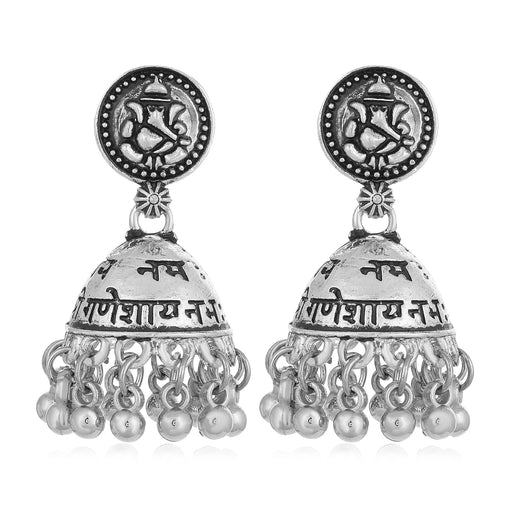 Sukkhi Sober Ganesh Oxidised Jhumki Earring for Women