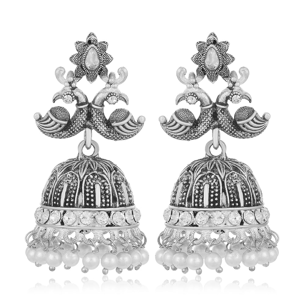 Sukkhi Delightful Peacock Oxidised Earring for Women