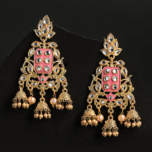 Sukkhi Glamorous Gold Plated Floral Jhumki Earring for Women